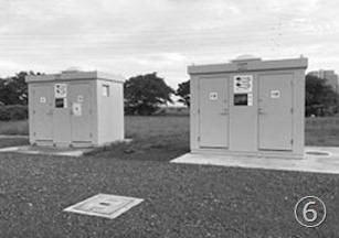 古市場陸上競技場に簡易水洗トイレ設置